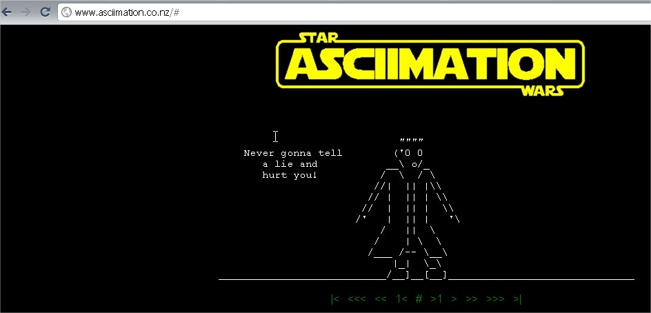 Watch Star Wars Movie In Command Prompt As Animation