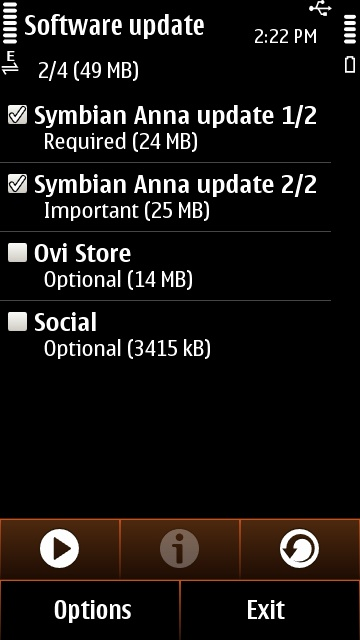 3.Before Symbian Anna Update Update Your Nokia N8,C7,E7 & C6 01 Phones To Symbian Anna OS ,Fix Symbian Anna Phone Setup:Feature Not Supported Error