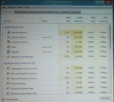 Windows 8 Enhance Task Manger