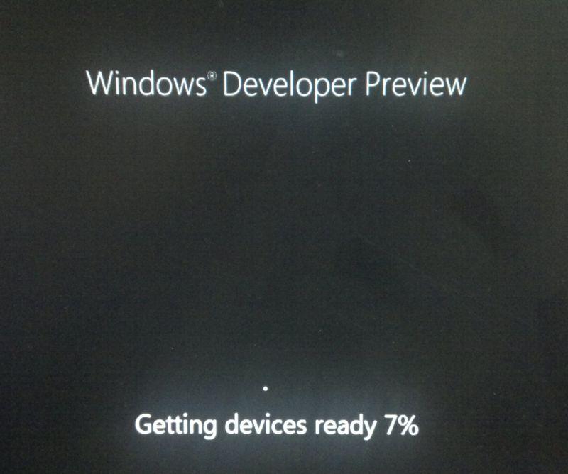 Windows 8 Developer Preview Installation Process