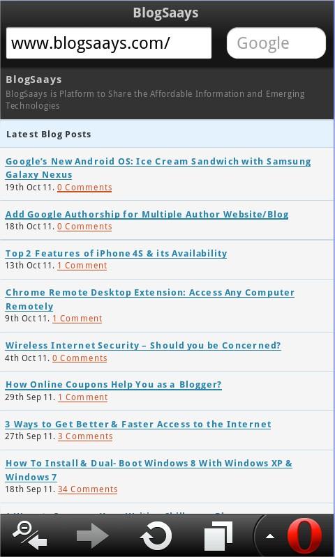Blogsaays Mobile
