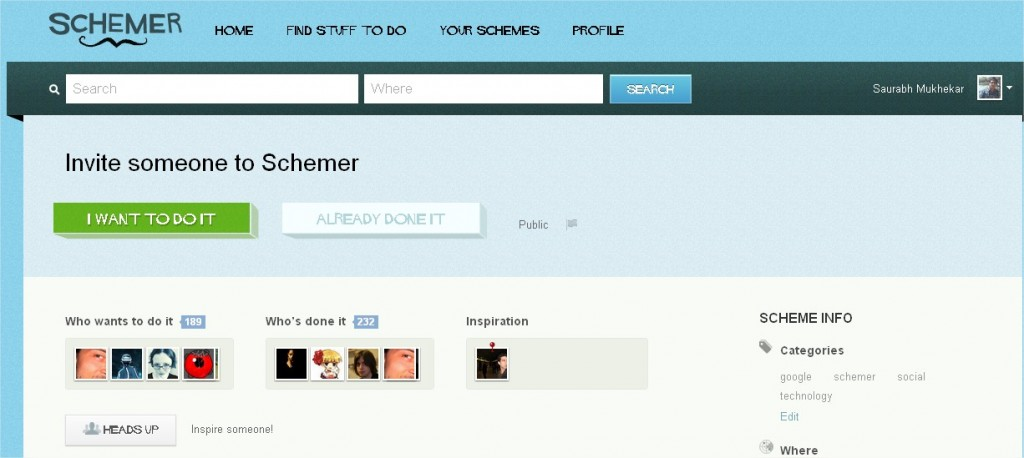 Google Schemer want to do