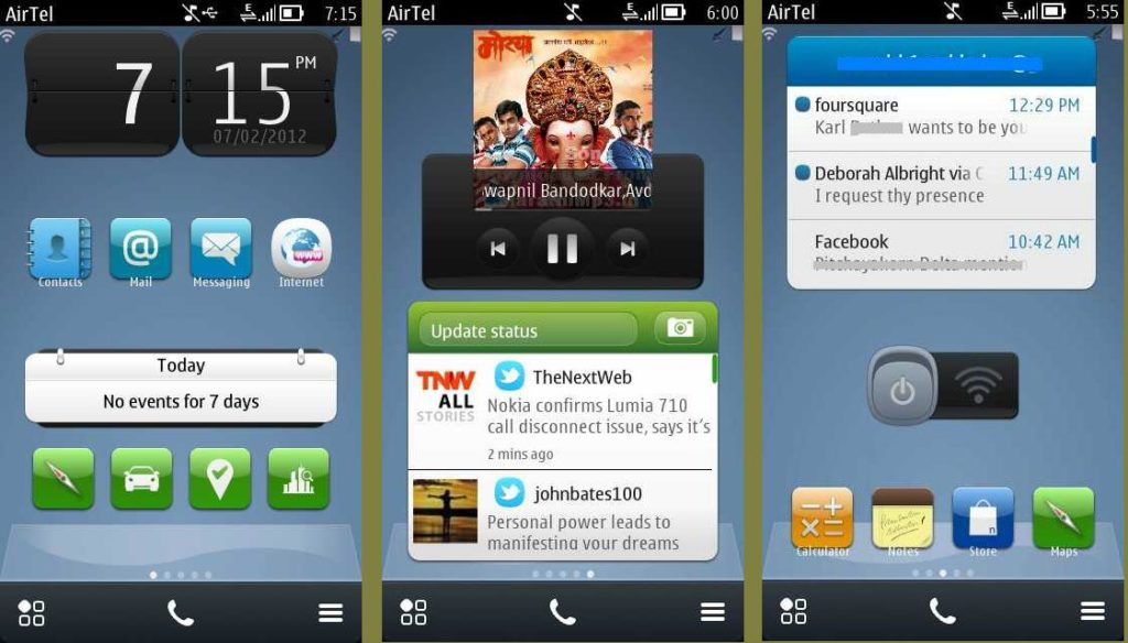 Symbian Belle Homescreen UI