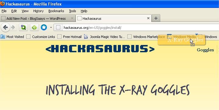 Hackasaurus Drag Drop Bookmark