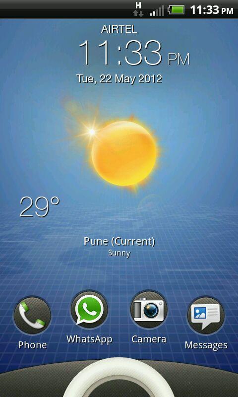 HTC RHYME Screen