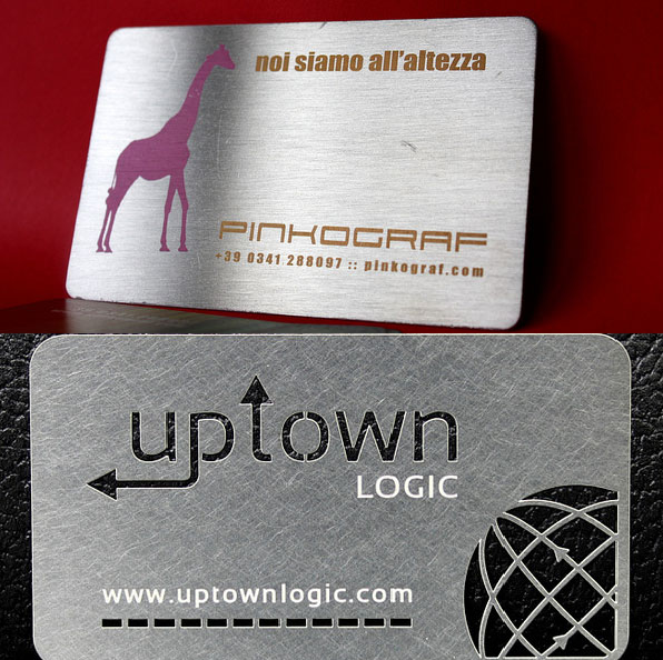 best Metal business card design
