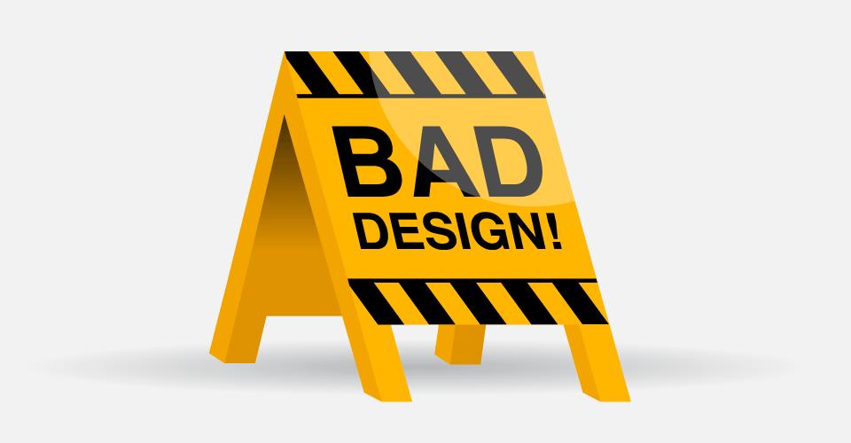 bad Design poor graphic website