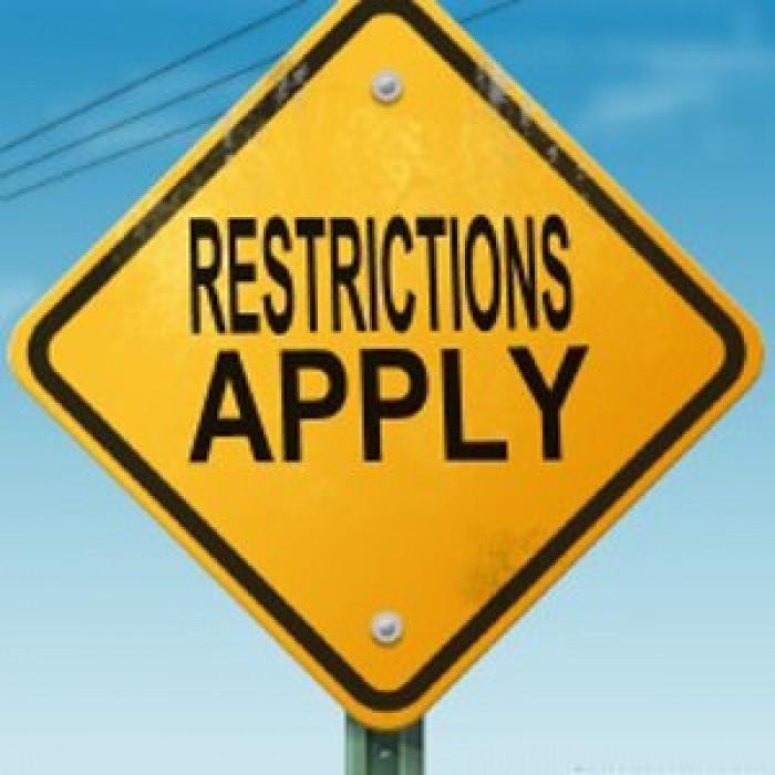 comment restrictions