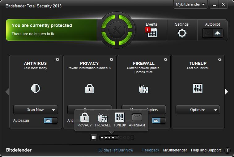 Bitdefender 2013 MAC OS X scan