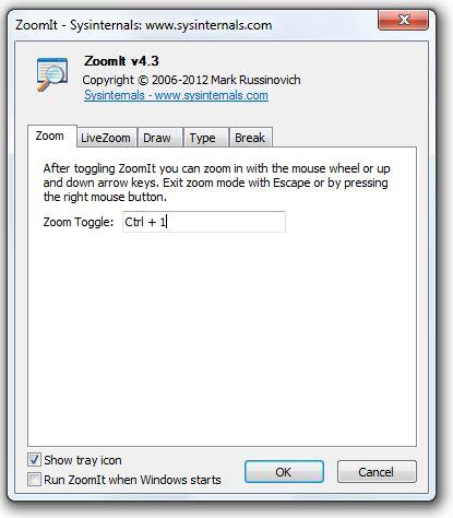 Zomit windows configuration