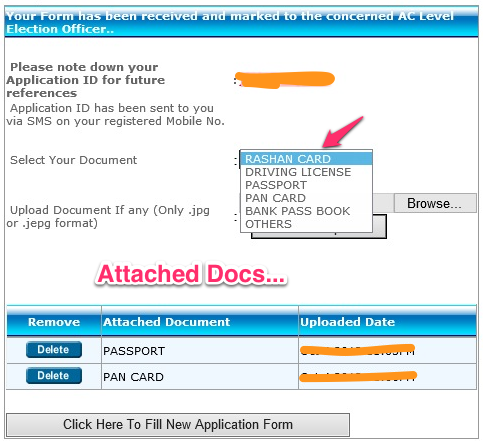 Image Attchment Voter ID Online Registration
