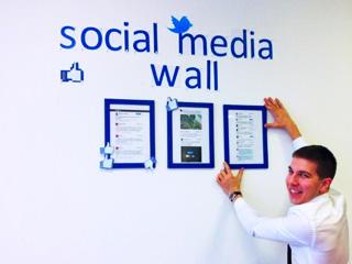 Social media wall office