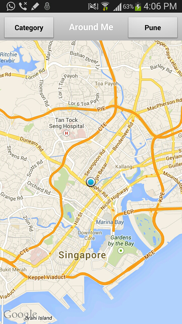 OLX india Map mobile