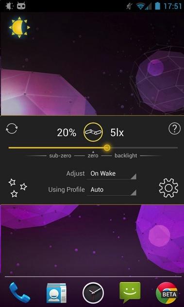 Lux Brighness Control App