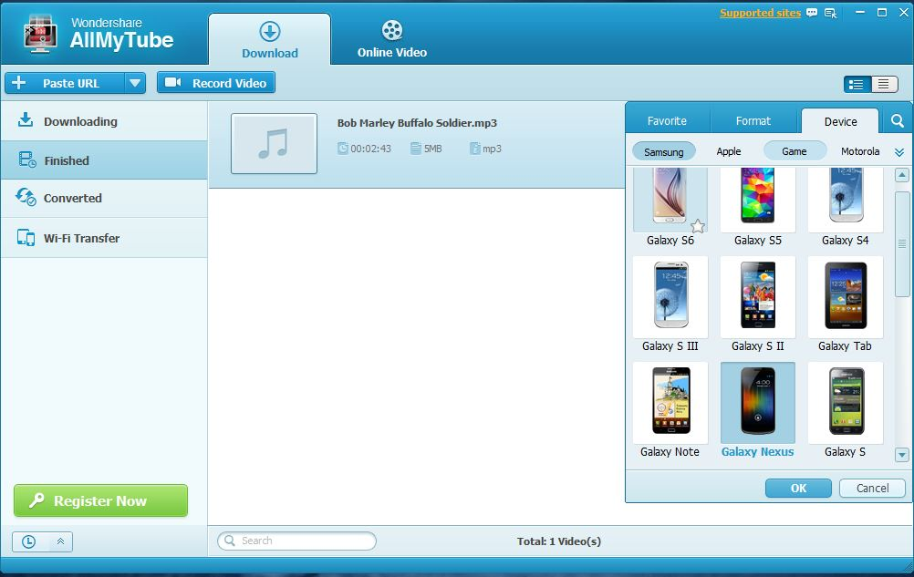Wondershare AllMyTube Batch Download