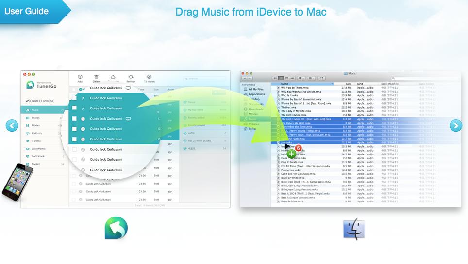 transfer music ios to mac