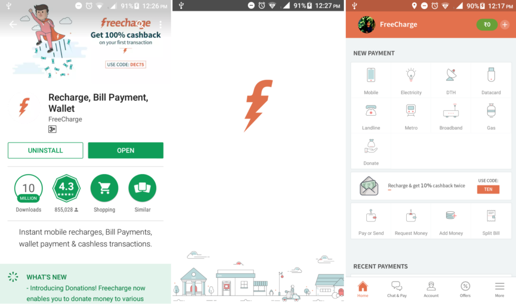 Freecharge installation