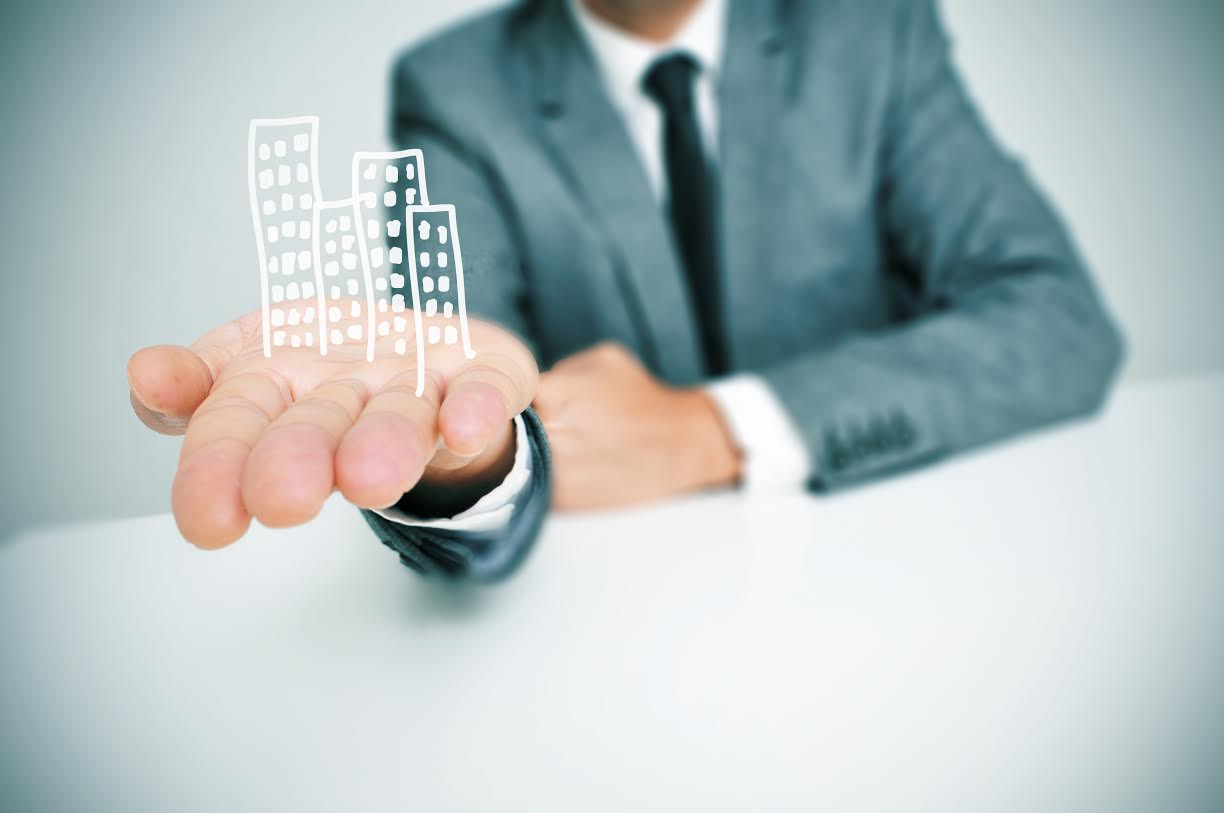businessman and buildings