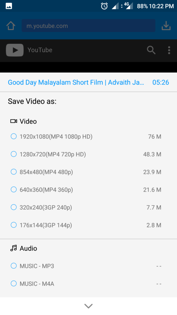 Select Quality Video keepvid