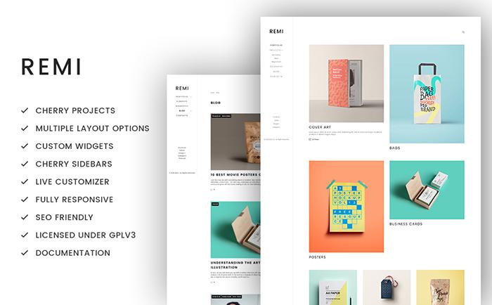 Remi - Photographer Portfolio WordPress Theme