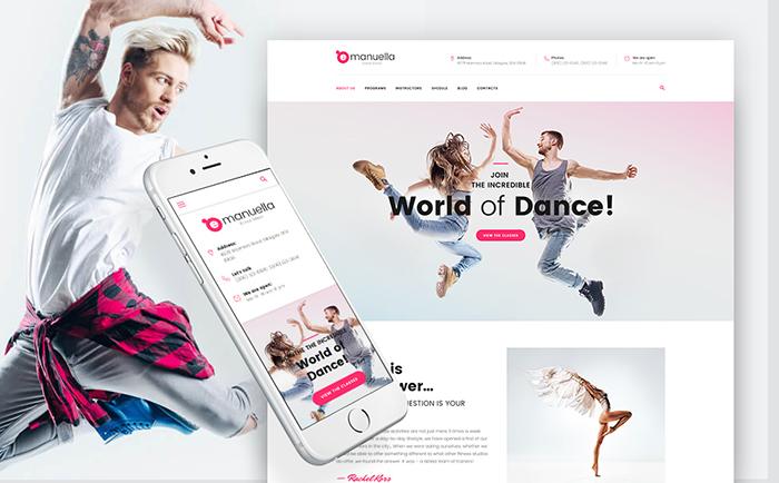 World of Dance Responsive WordPress Template