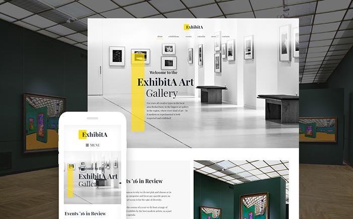 Art Exhibition Responsive WordPress Template