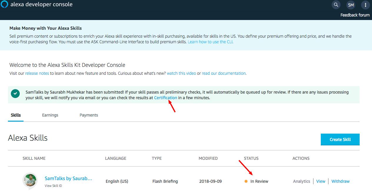 Alexa Skills Kit Developer Console-13