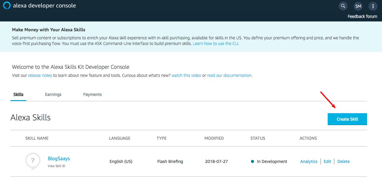 Alexa Skills Kit Developer Console-3