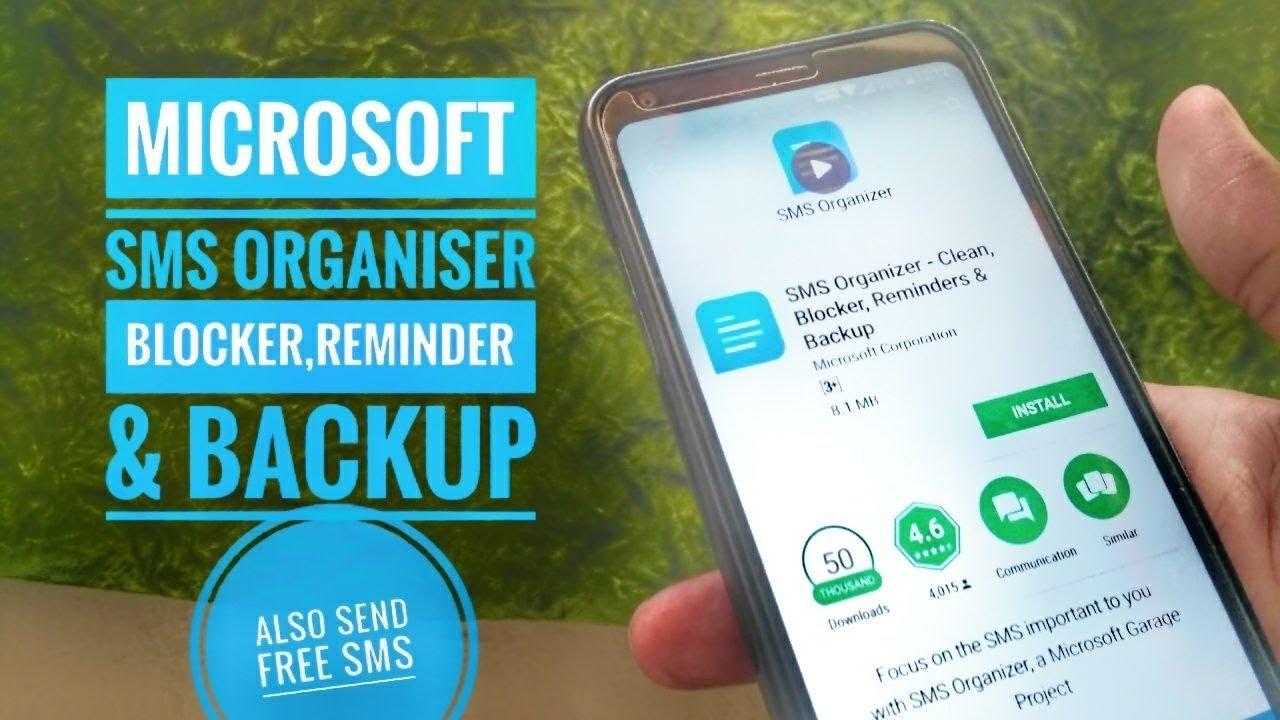Microsoft SMS Organiser app