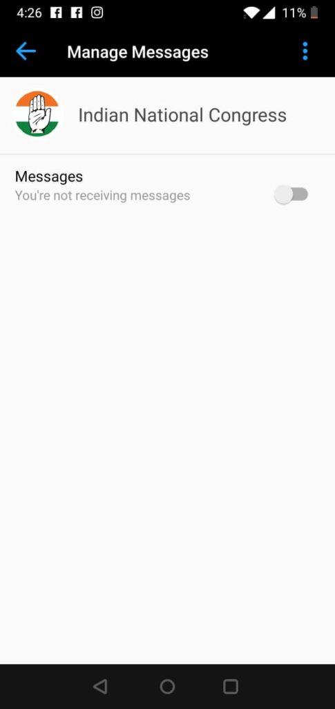 Block Chatbot on Facebook
