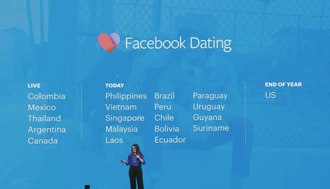 Facebook Dating Supported Countries