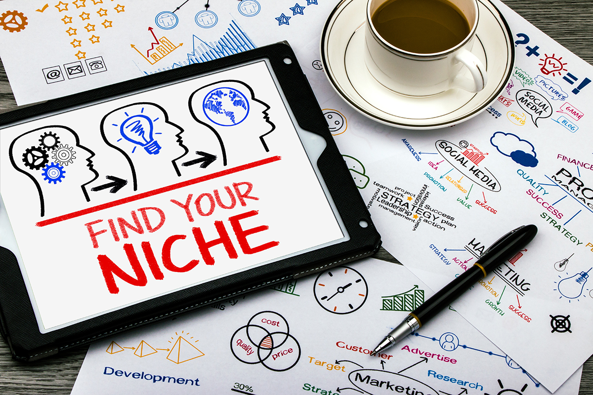 find your niche concept on tablet pc