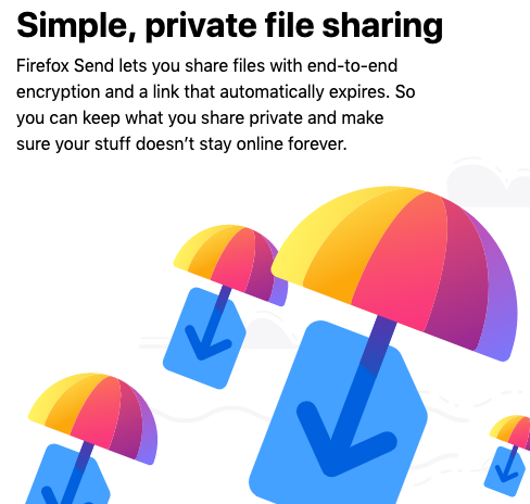 Simple Private File Sharing Firefox Send