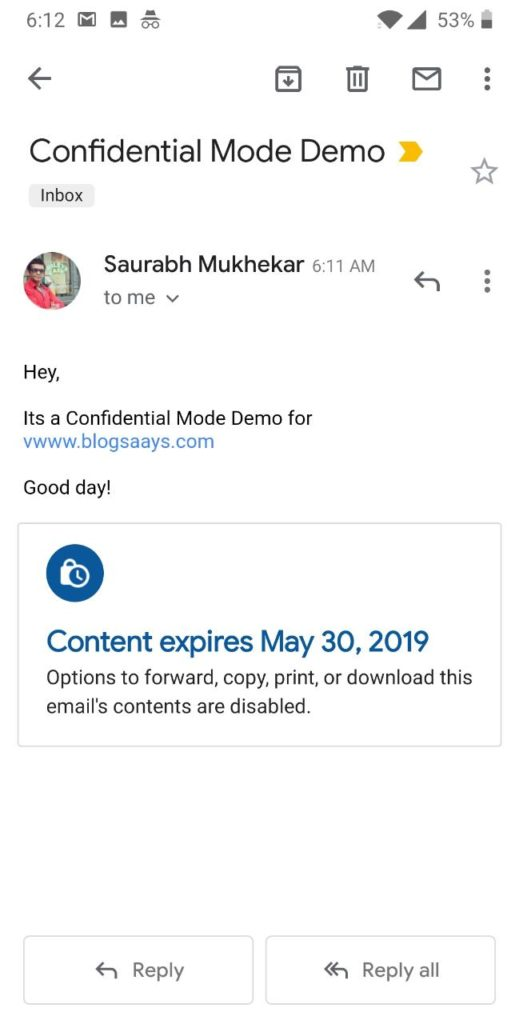 confidential email standard
