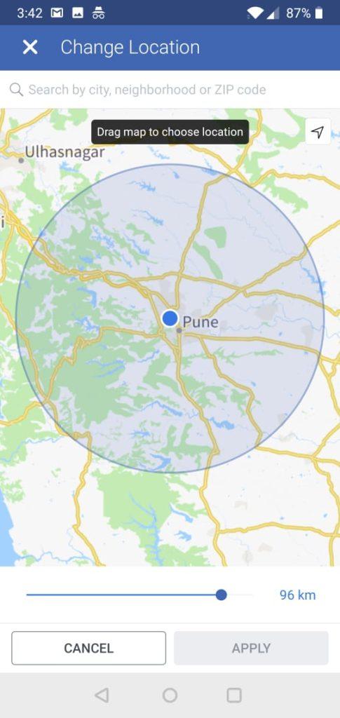 location based facebook job marketplace