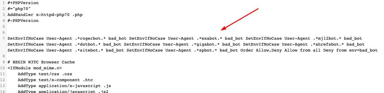 Blocking Bots using htacccess