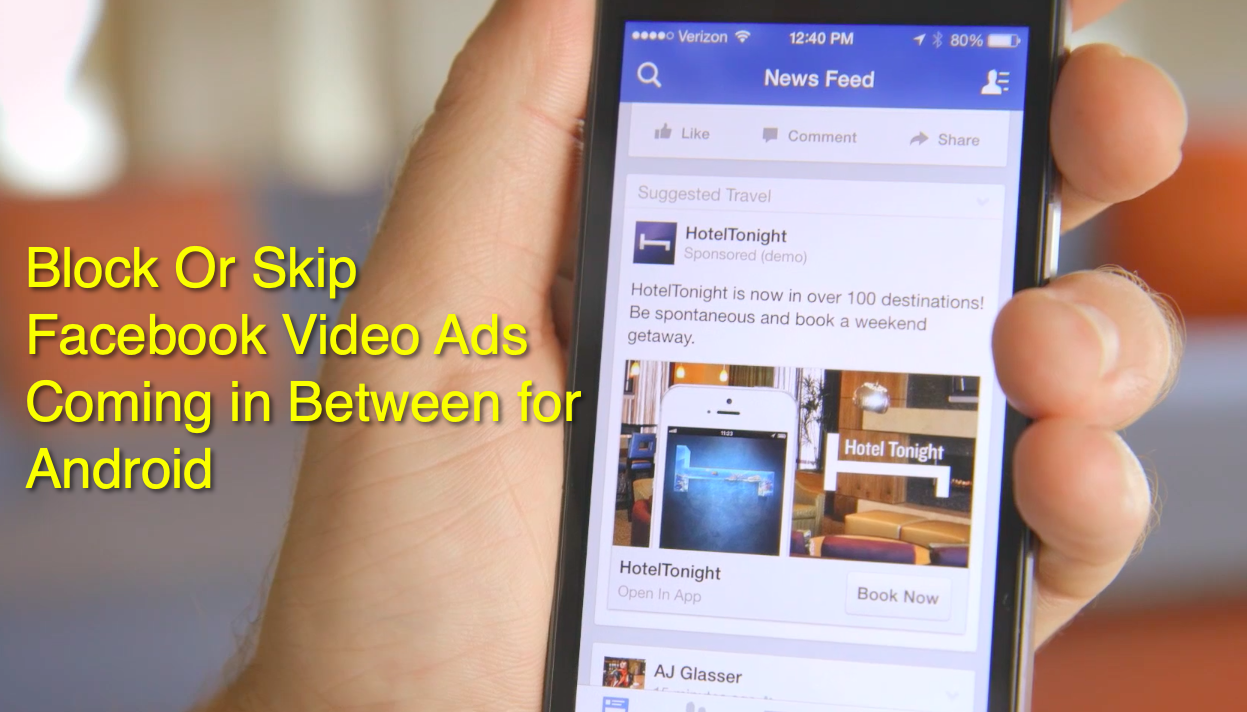 Skip facebook video ads in android-a