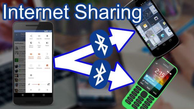 Share inflight internet using Bluetooth