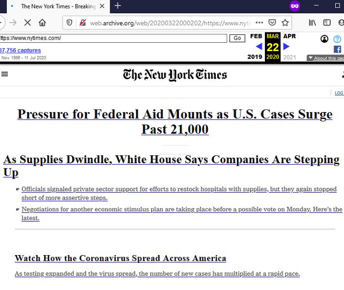 The NYTimes Wayback