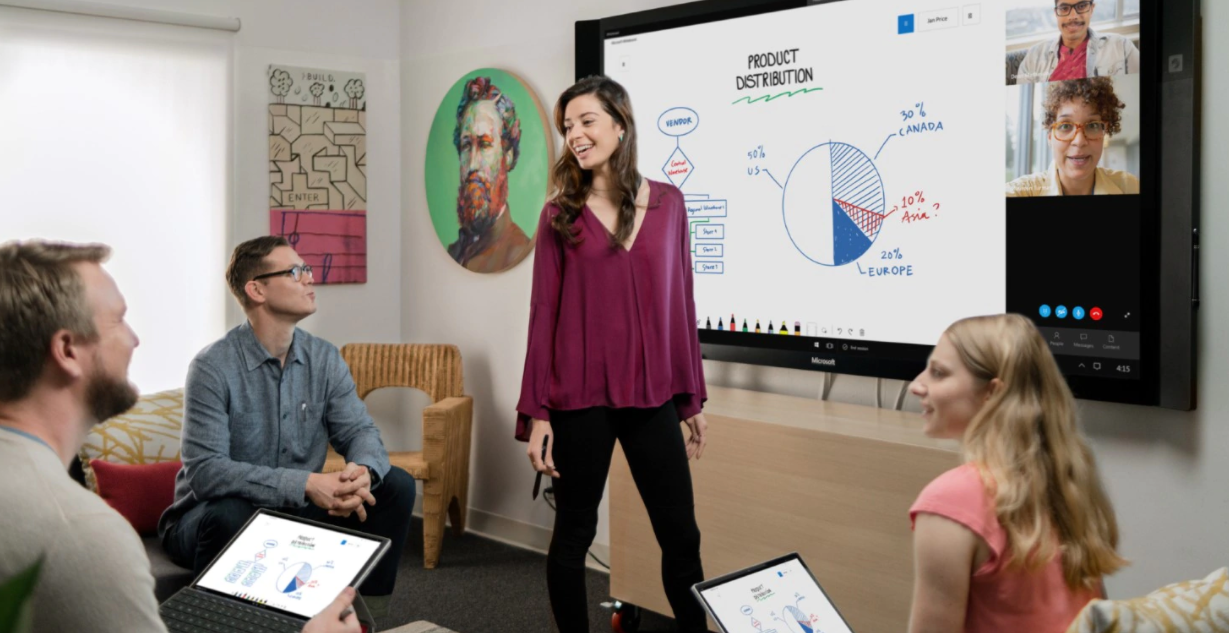 Microsoft Whiteboard Video Conference App