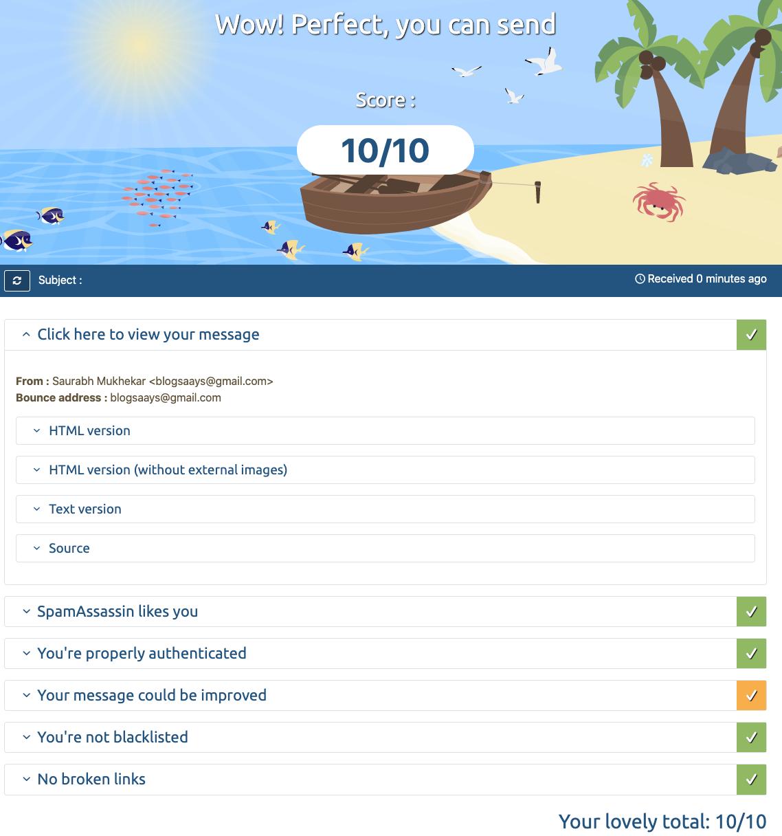Email-Tester-Spam-Test-Result
