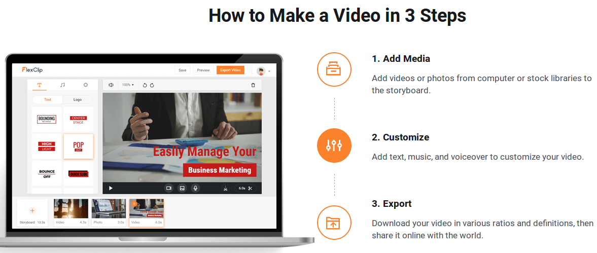 How to make videos in 3 steps