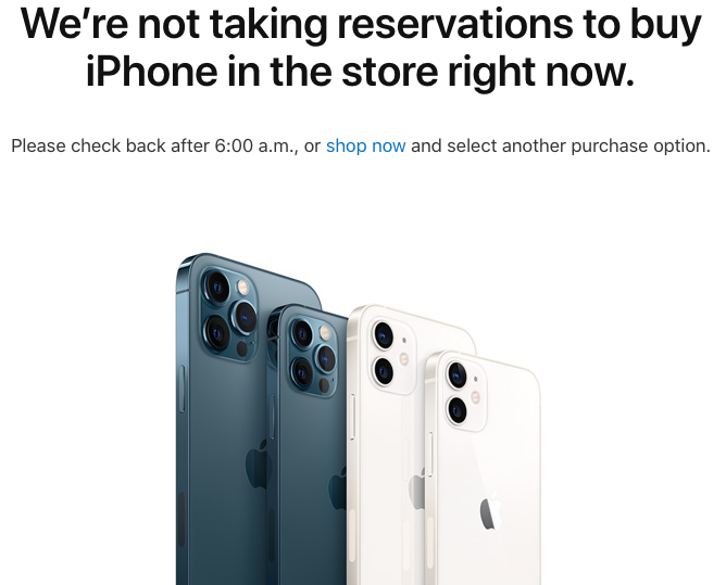 iphone online reservation trick