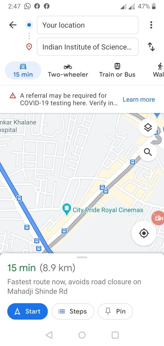 Change Navigation icon Google Map -2