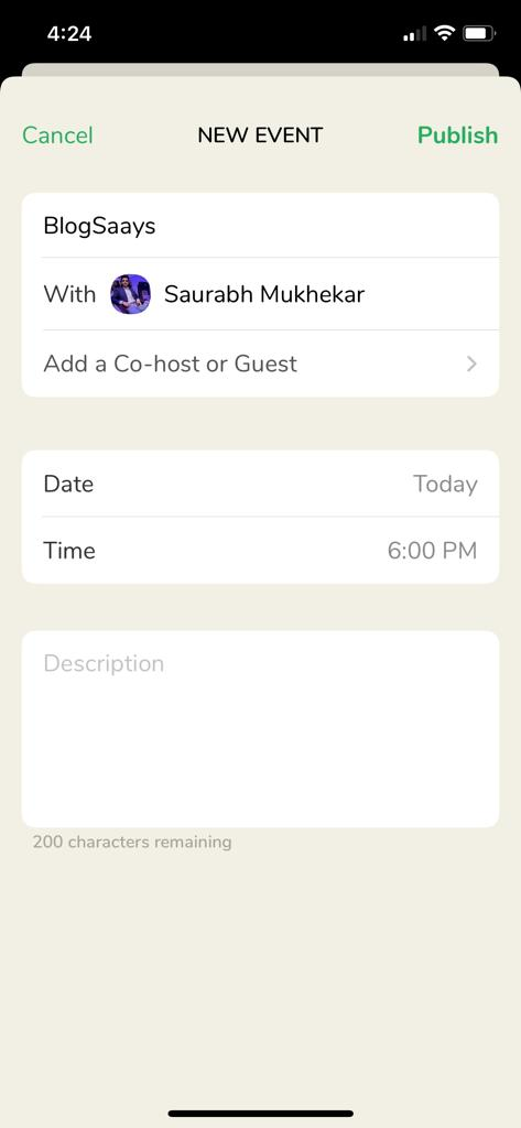 Clubhouse app dashboard-2
