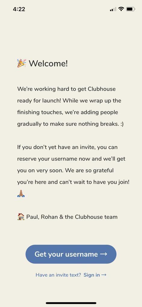 Clubhouse app invite
