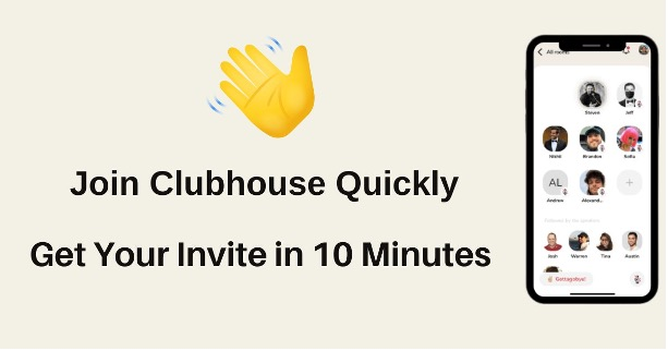 Clubhouse invites in 10minute