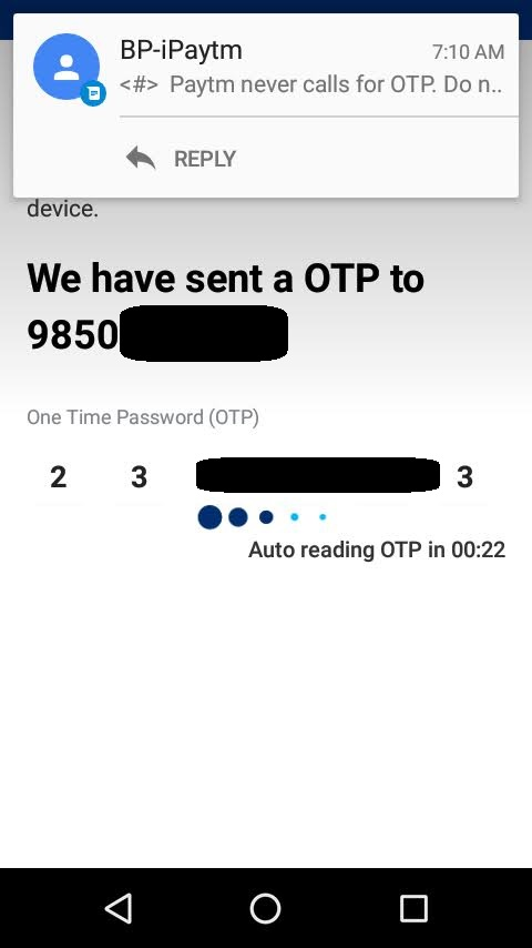 solve paytm login issues receive otp using airplane mode
