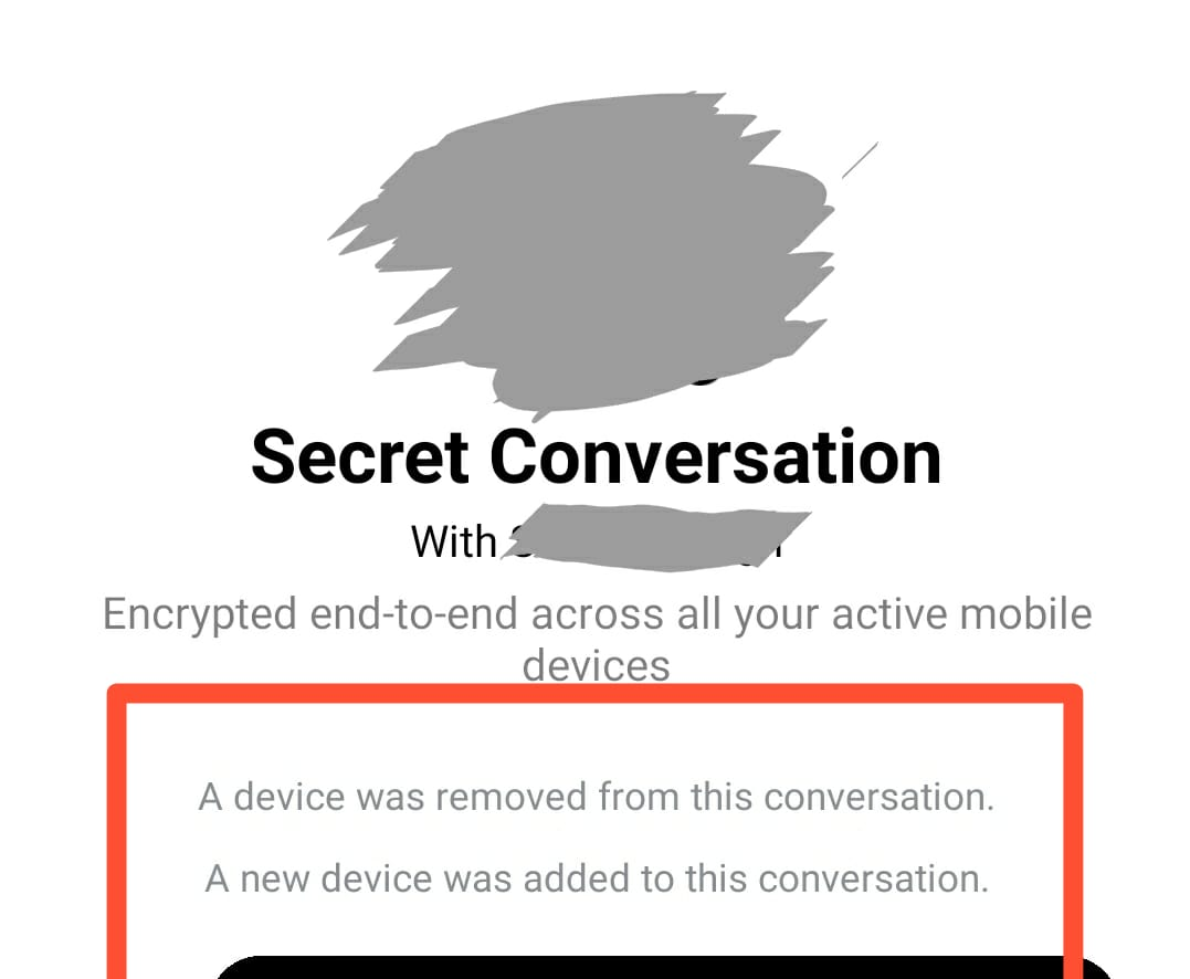 Facebook Messenger A device was removed from this conversation