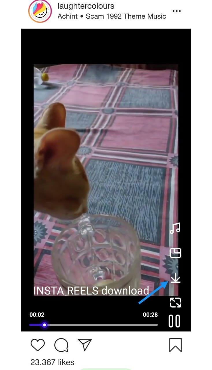 Download INSTA REEL Video process